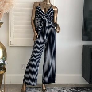 Just Ain't Right Jumpsuit - Blue&white!